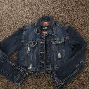 Rue21 Long Sleeve Rip Torn Denim Jacket